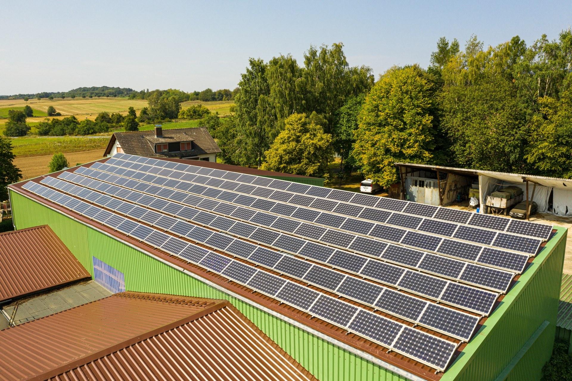 Industriefotograf Solaranlage Solarpark Luftbild Drohnenfotograf