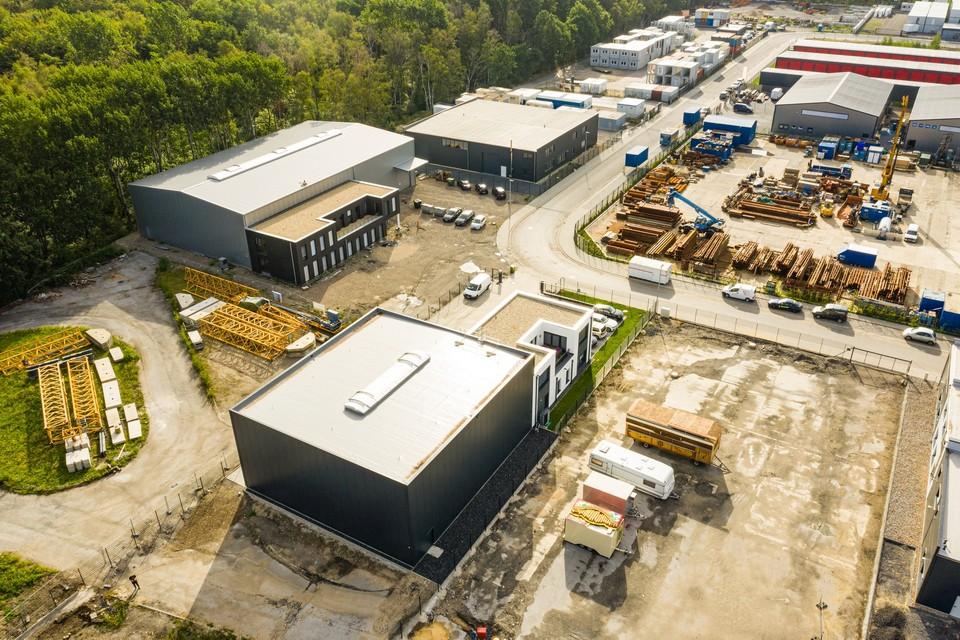 Luftbild Bauüberwachung Gewerbe Industrie Drohne